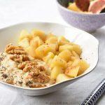 owsianka jabłkowa apple oatmeal apple porridge apfel-zimt haferbrei
