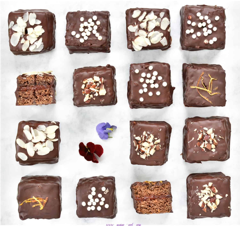 Pierniczki z dżemem śliwkowym oblane czekoladą Lebkuchen mit zwetschken konfitüre mit schokoladenglasur soft gingerbread cookies with plum jam coated in chocolate