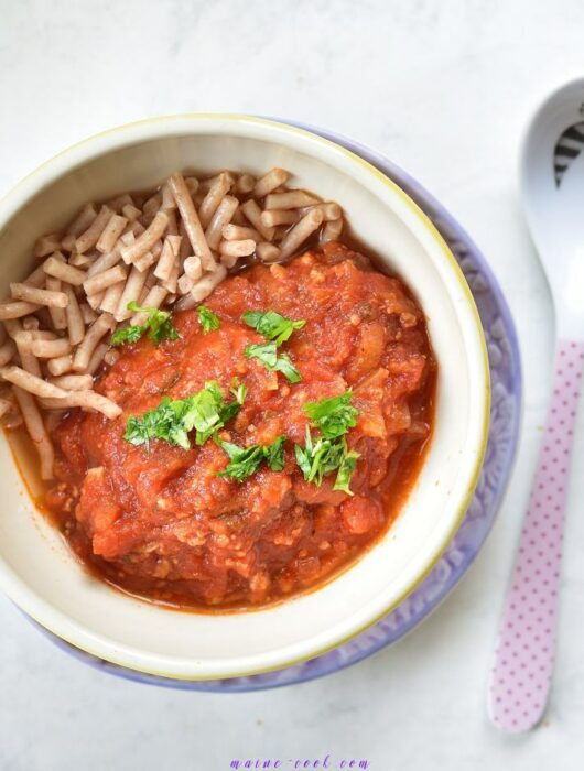Spaghetti bolognese dla dzieci (rozszerzanie diety) spaghetti bolognese for babys (complementary feeding)