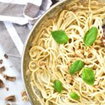 spaghetti z gorgonzolą i orzechami włoskimi gorgonzola and walnut spaghetti