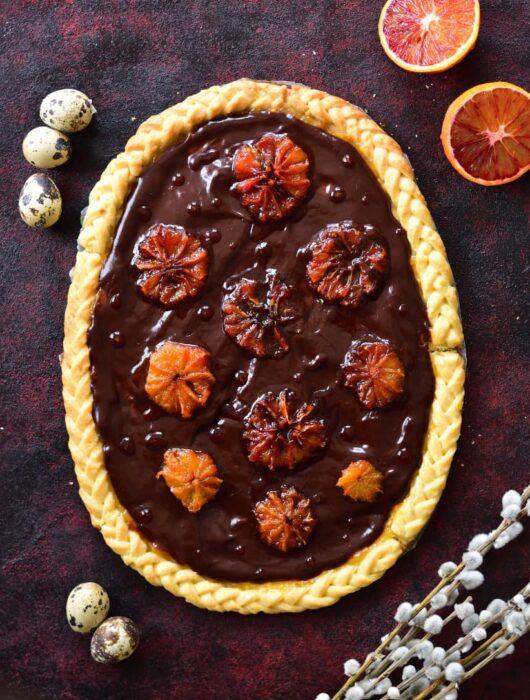 Mazurek czekoladowo-pomarańczowy Chocolate orange mazurek