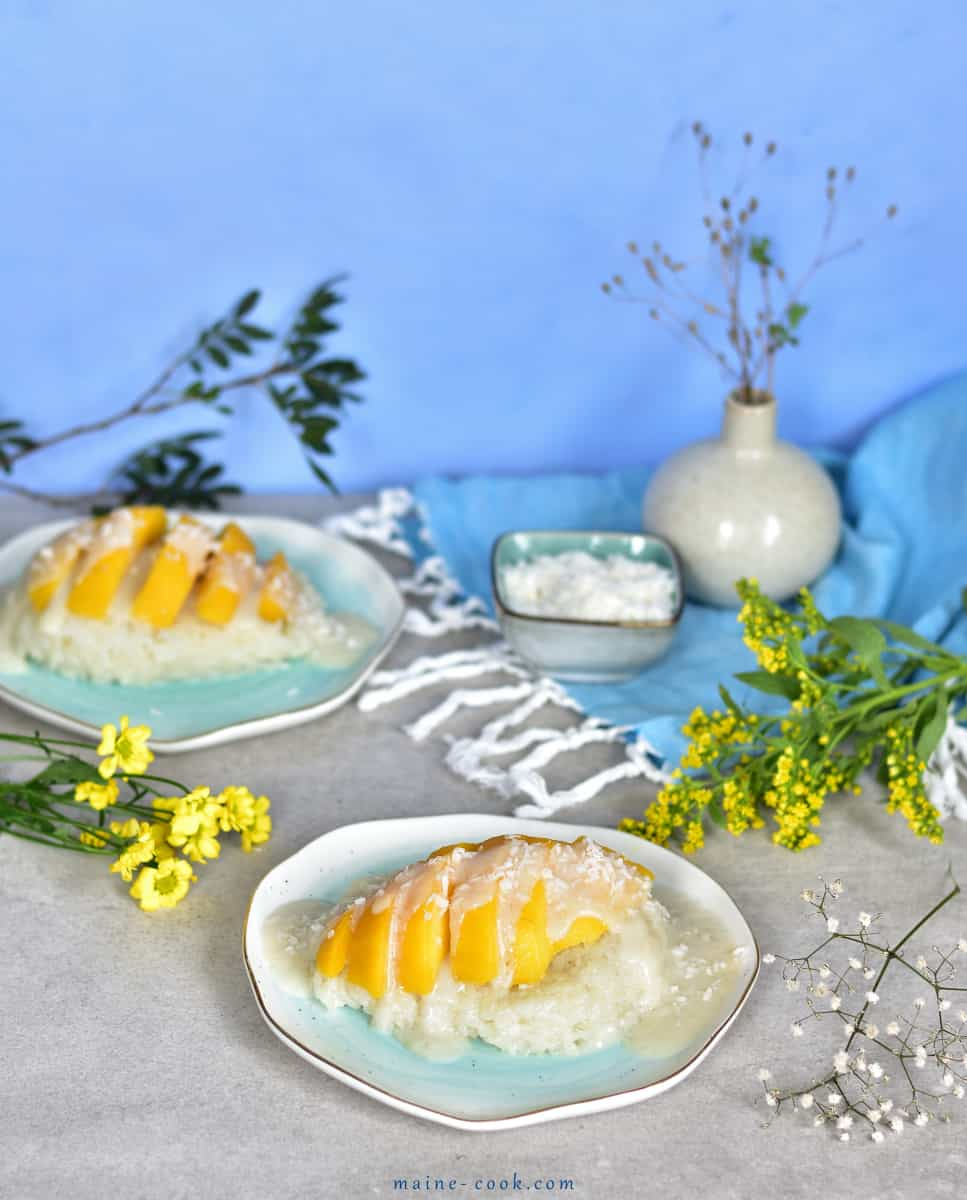 tajski kokosowy ryż z mango thai coconut sticky rice with mango