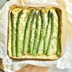 Tarta ze szparagami i cukinią Asparagus and zucchini tart