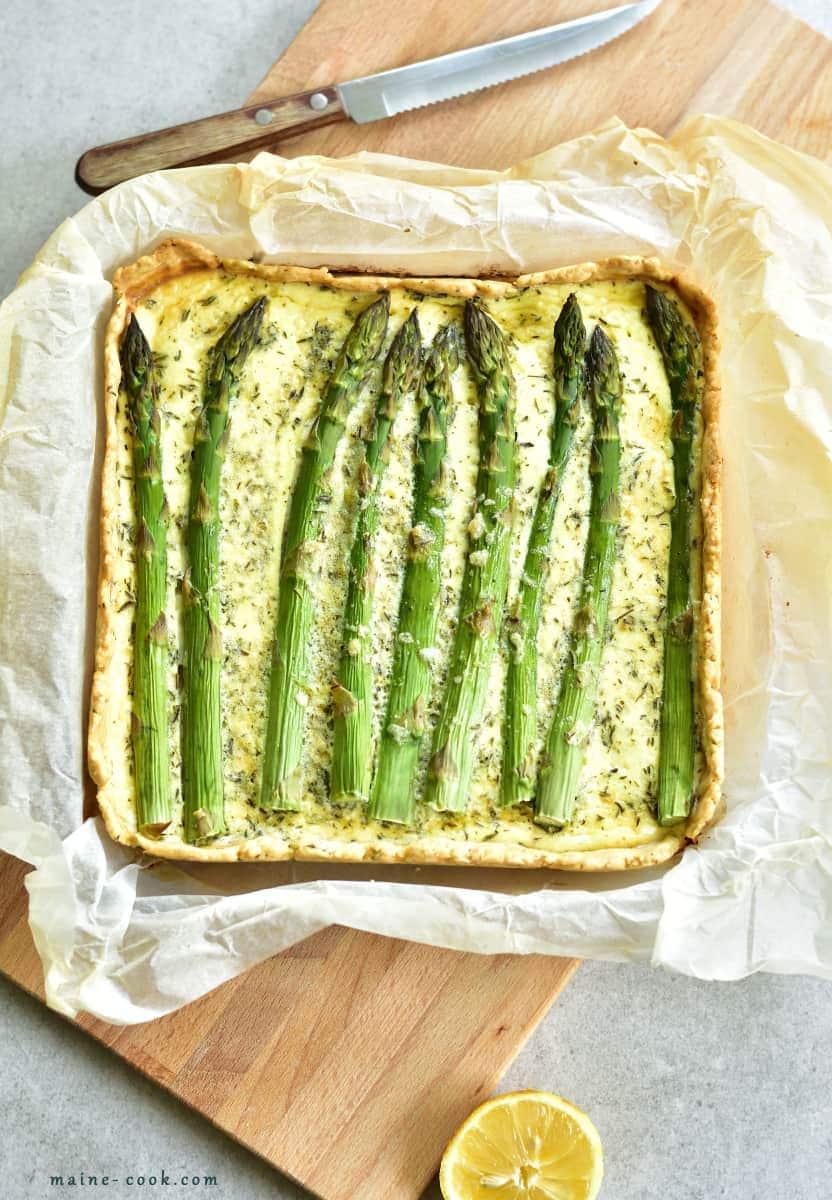 asparagus zucchini tart