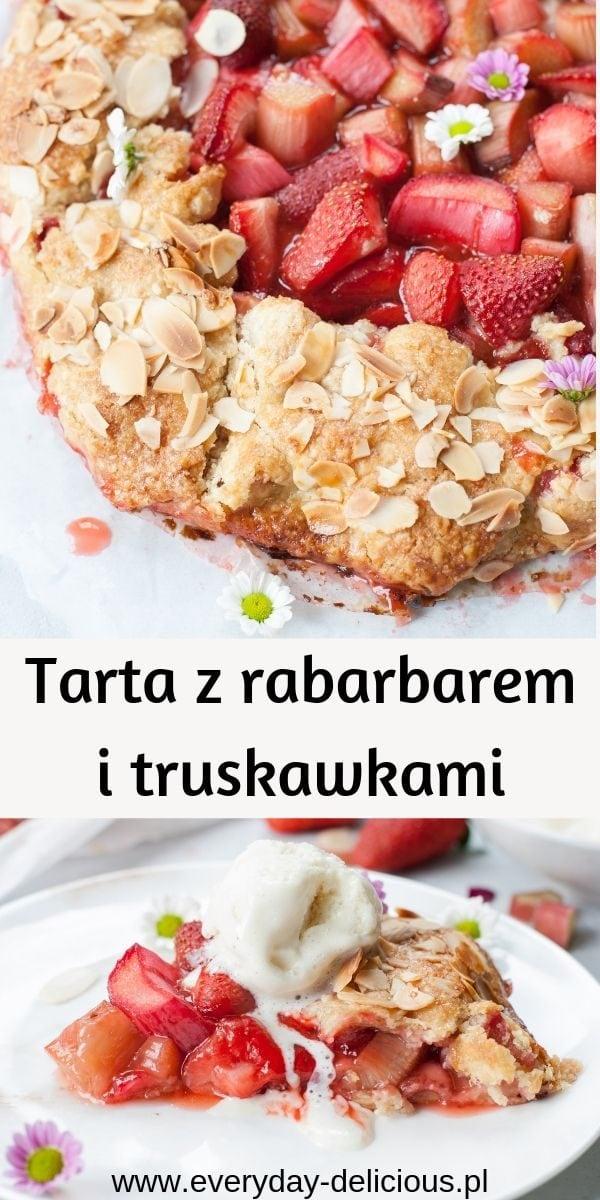 tarta z rabarbarem i truskawkami