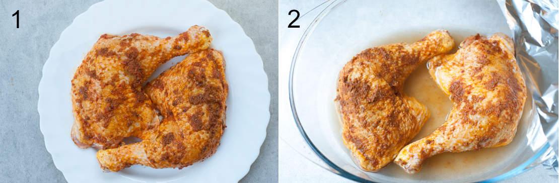 etapy przygotowania udek z kurczaka z harissą